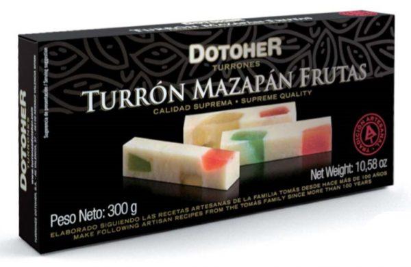 Turrón Mazapán con frutas artesanal en pastilla. Tienda online de turrones hechos a mano.
