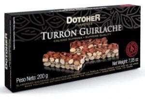 Pastilla de Turrón de guirlache con frutas artesanal en pastilla. Tienda online de turrones hechos a mano.