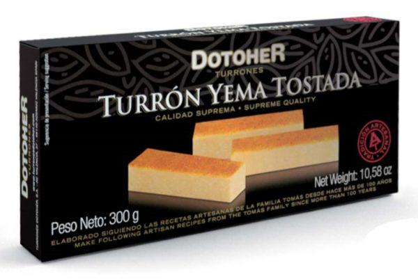 pastilla de Turrón de yema tostada. Tienda online de turrones hechos a mano.